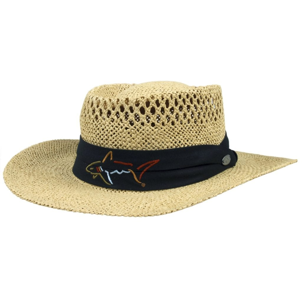 The Game Greg Norman Straw wide brim golf Hat