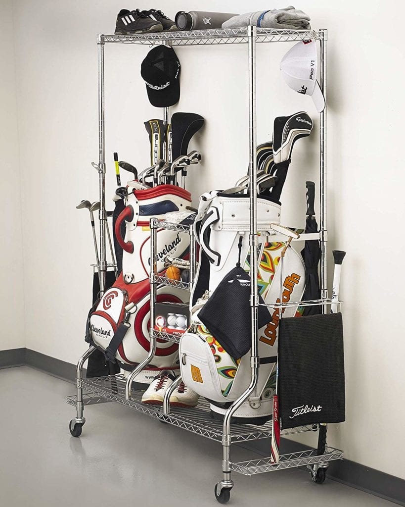 golf bag racks