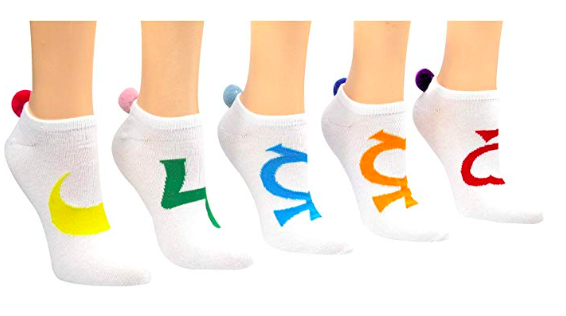 pom pom golf socks